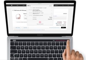 Macbook Pro s dotykovým pruhem Touch ID